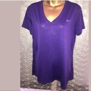 Nike purple reg fit shirt poly size L